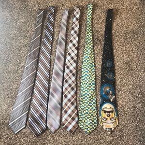 Selection of six ties.